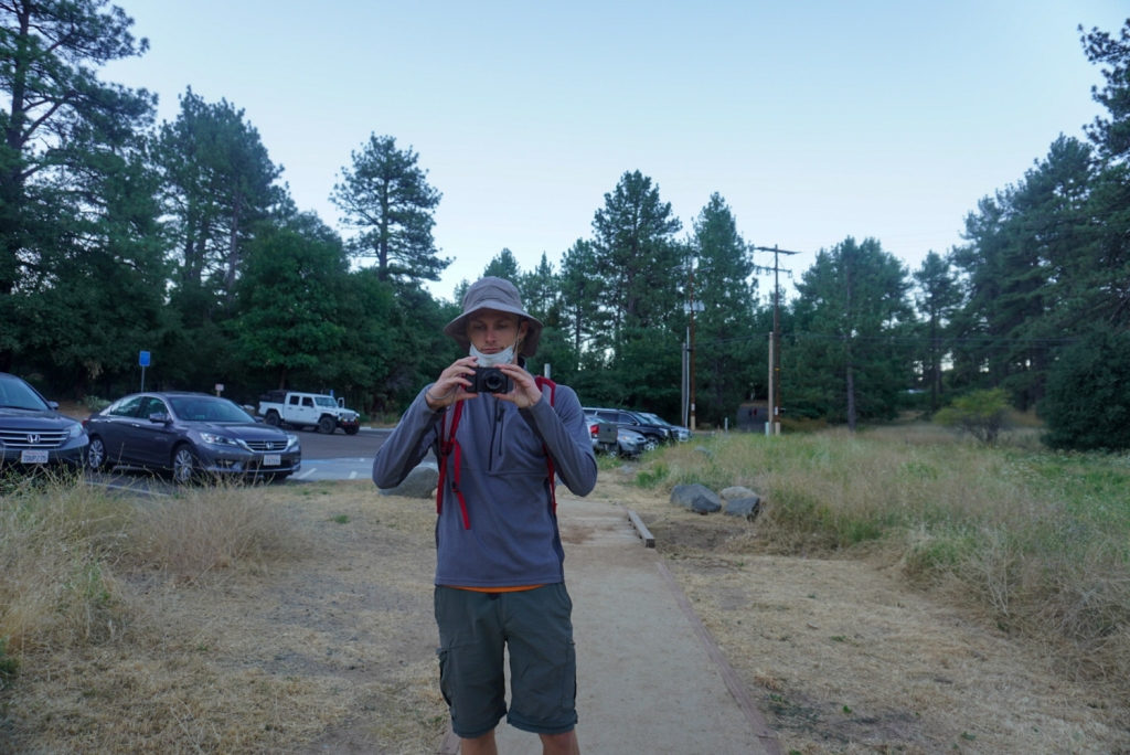 Evan Quarnstrom takes a photo in the Cuyamaca Mountains.