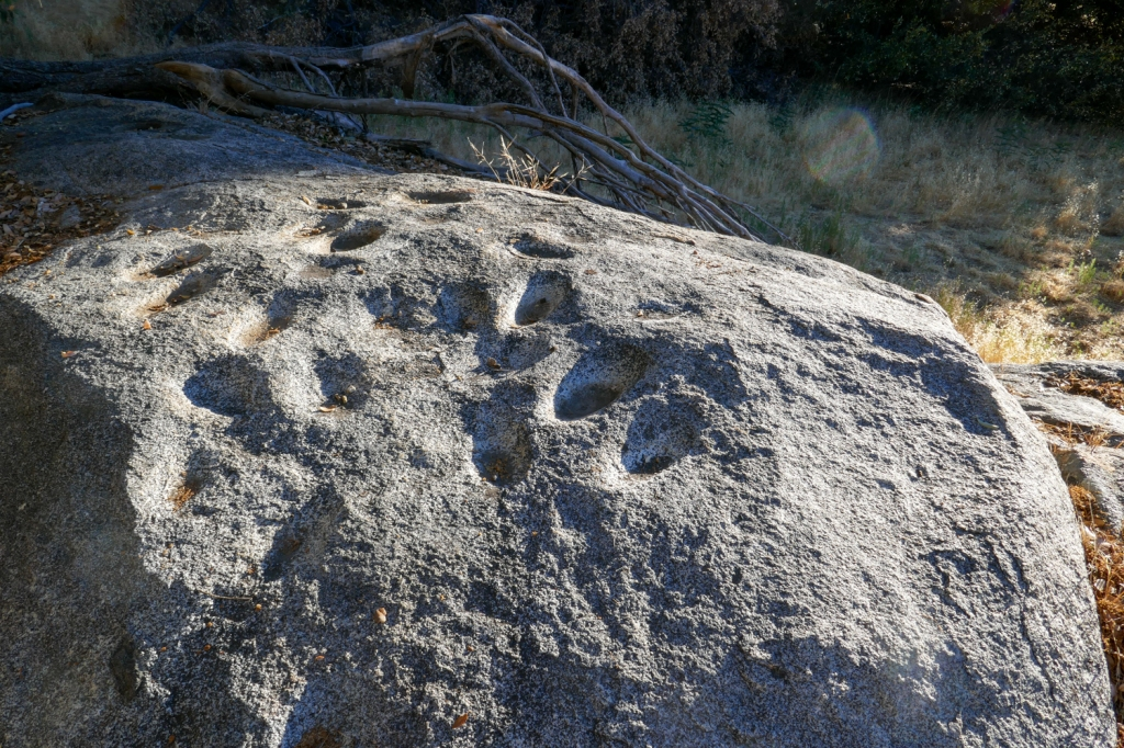 Kumeyaay Cuyamaca Ovals on a granite rock surface.
