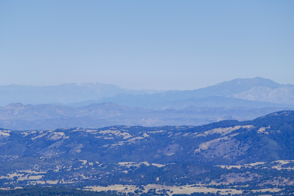 San Jacinto and San Gorgonio Peaks as seen from Cuyamaca Peak.