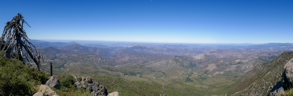 Views of coastal San Diego County from Cuyamaca Peak.