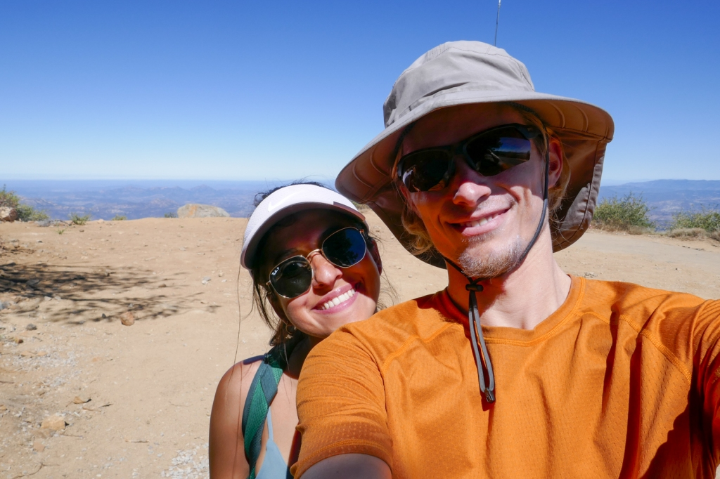 Taking a selfie on top of Cuyamaca Mountain.