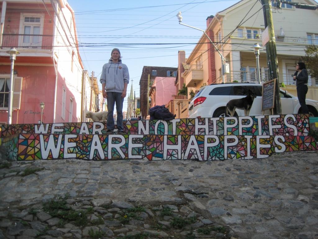 Evan Quarnstrom in Cerro Alegre of Valparaiso, Chile.
