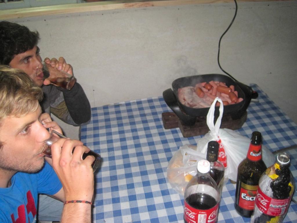 Friends drinking beer in viña del mar, Chile.