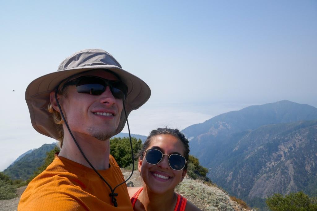 Madison Snively and Evan Quarnstrom summit King Peak.