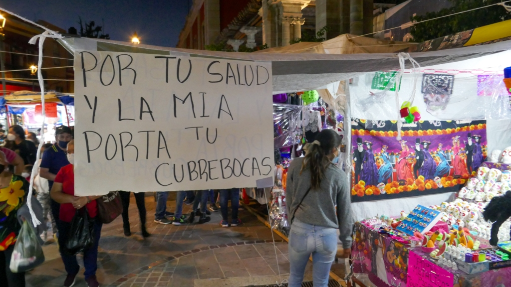 Mexicans buy offerings for day of the dead in Guanajuato.