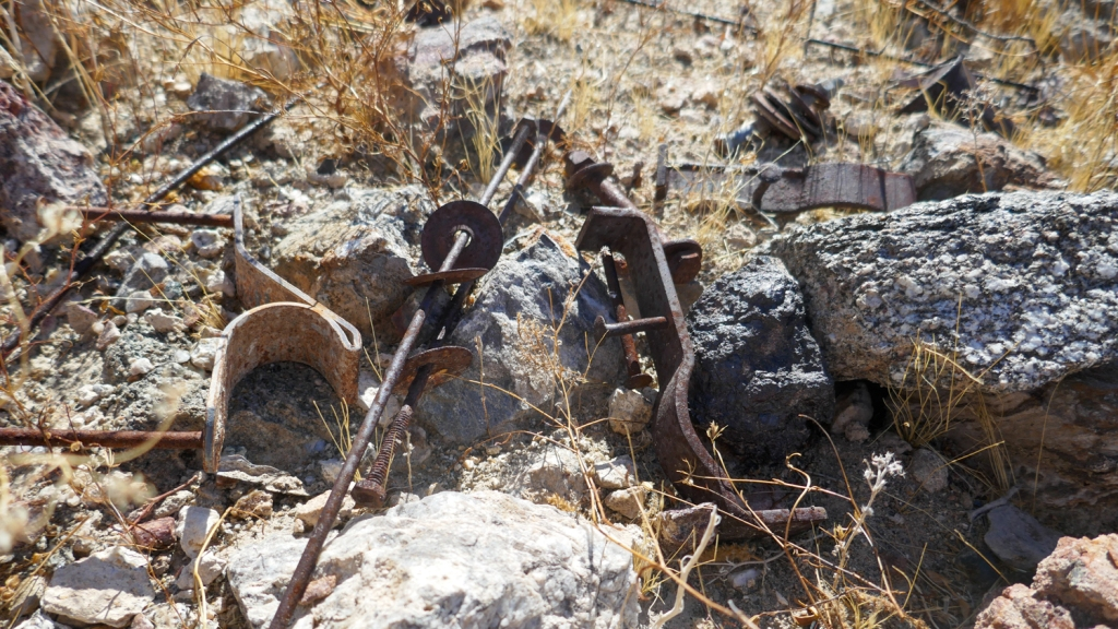 Old mining tools found in the Fish Creek Mountains.