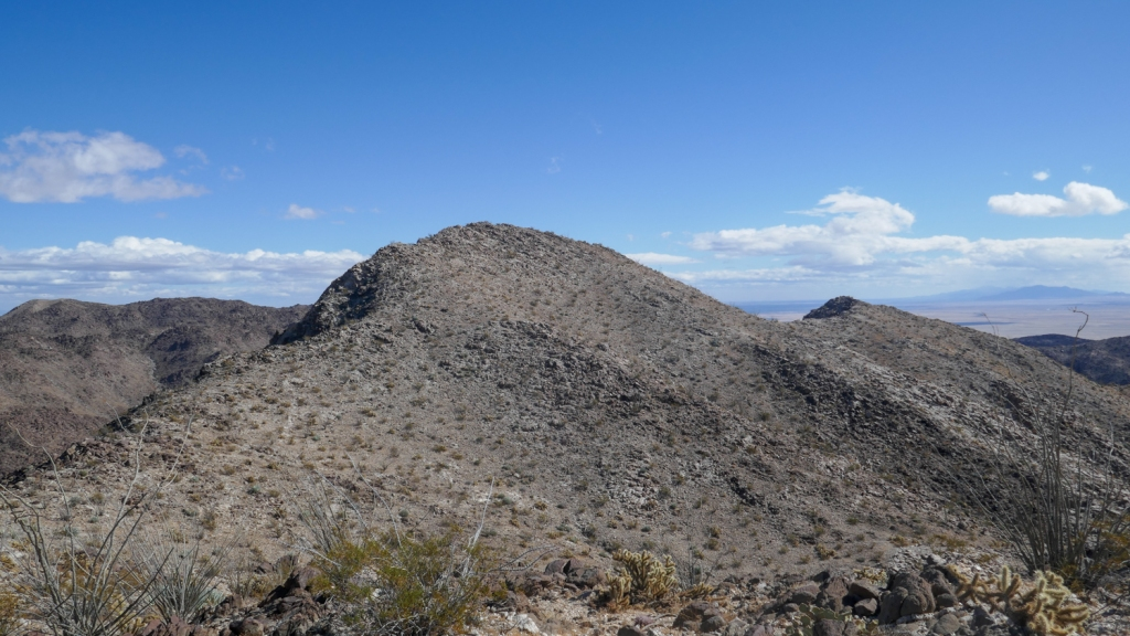 The high point of the Fish Creek Mountains in California.