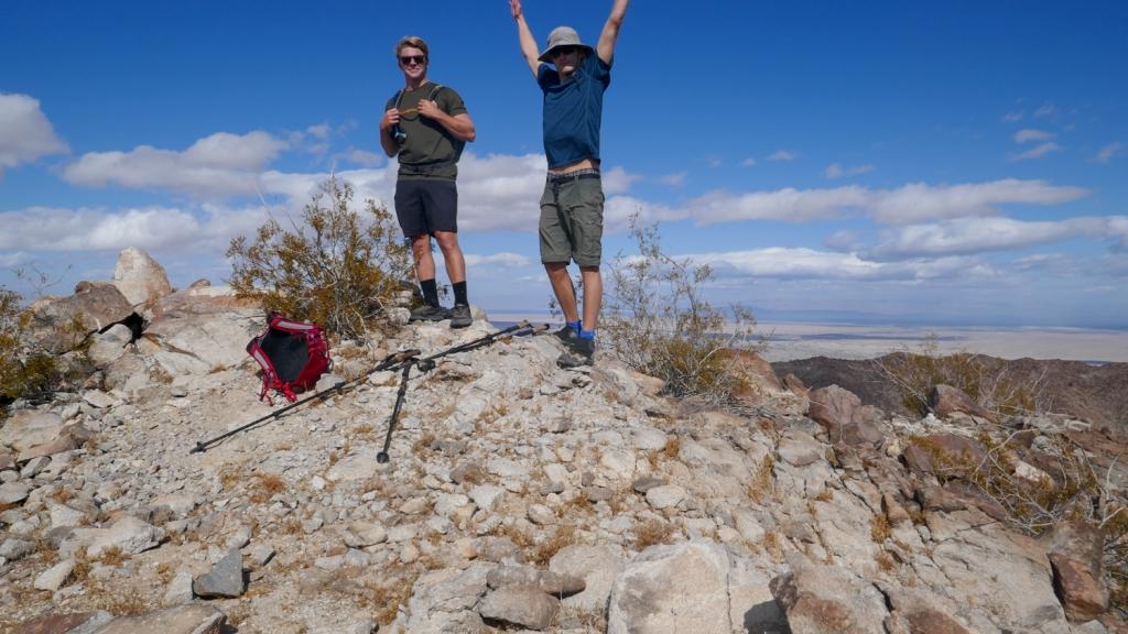 Nate Straus and Evan Quarnstrom on the high point of the Fish Creek Mountains.