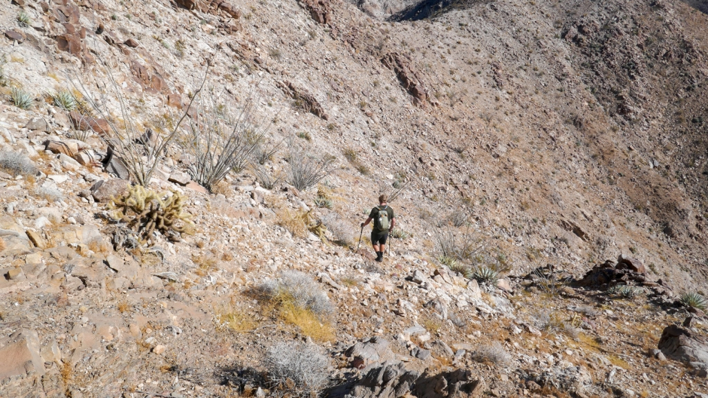 Nate Straus hikes cross country in the Fish Creek Mountains.