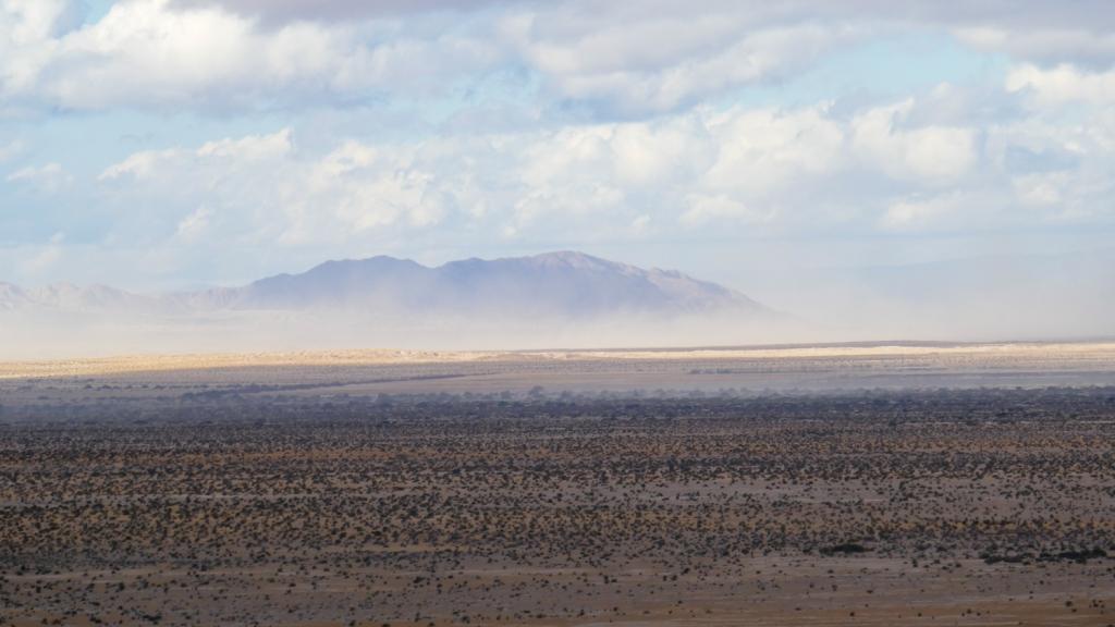 Sands storms rage across the desert near Borrego Springs.