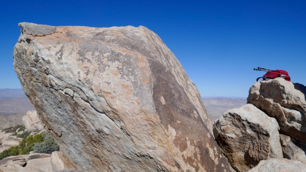 The summit block of Red Top Peak in Anza Borrego.