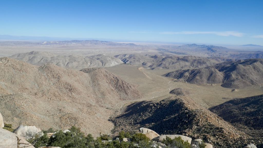 Views of Anza Borrego State Park from Red Top Mountain.