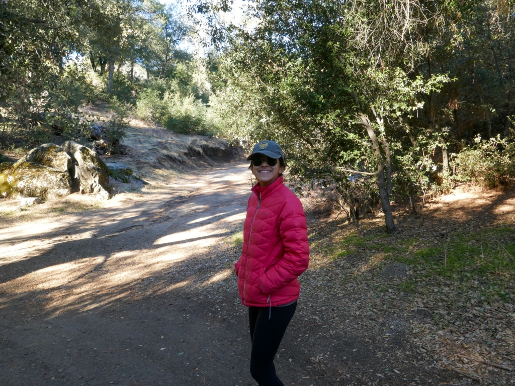 Madison Snively starting the trail to Hot Springs Mountain.