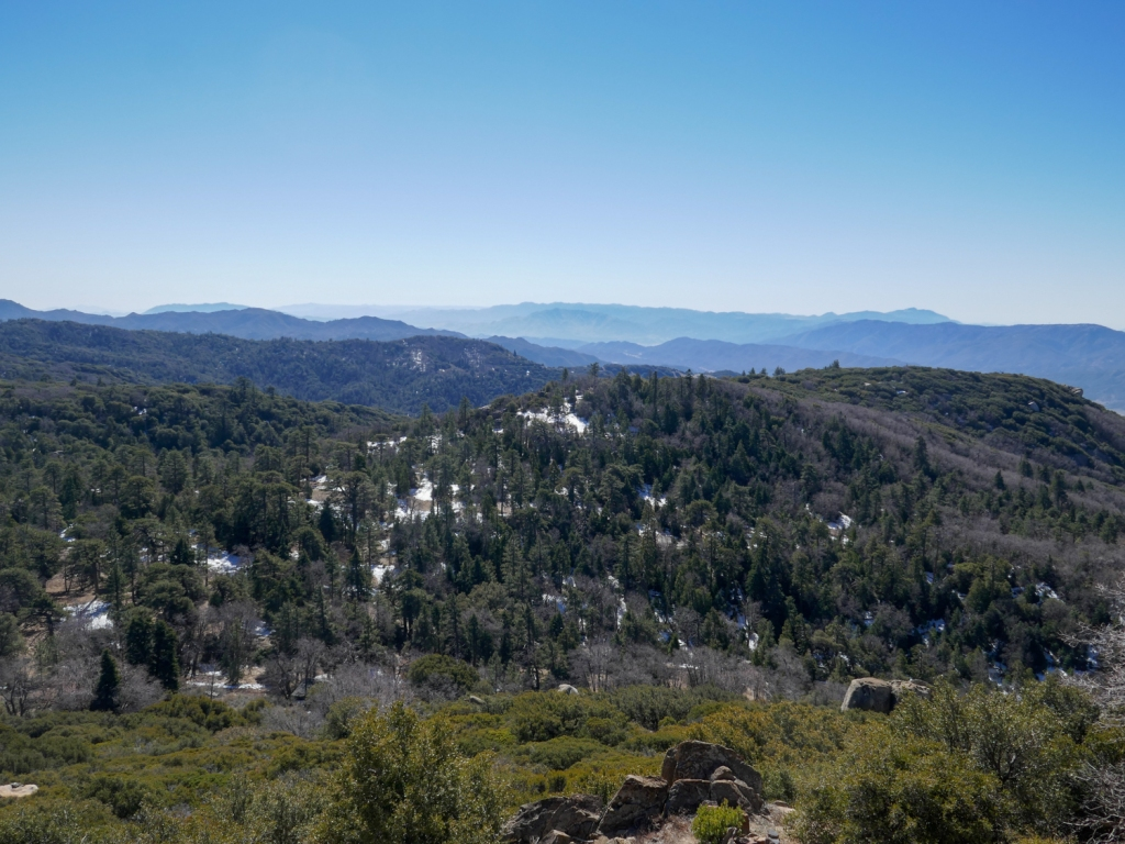Views of San Diego County from Hot Springs Mountain.