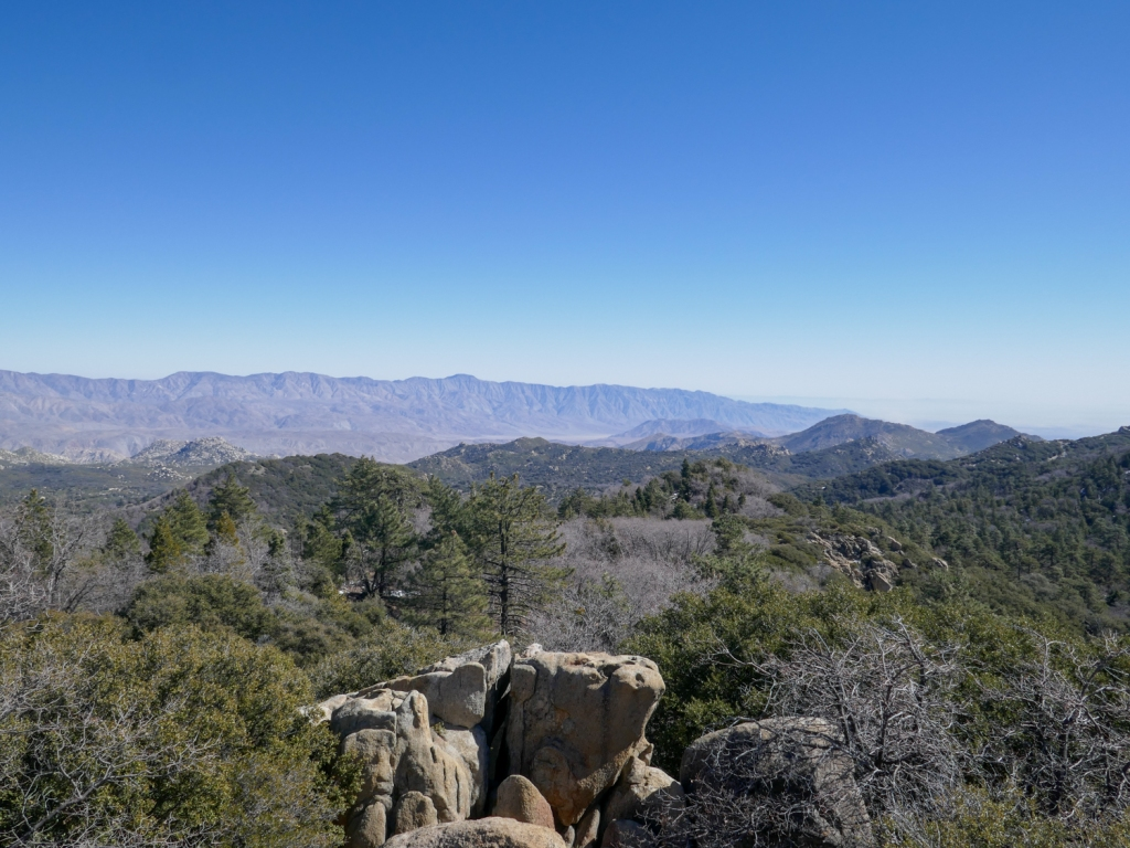 Anza Borrego desert as viewed from the top of Hot Springs Mountain.