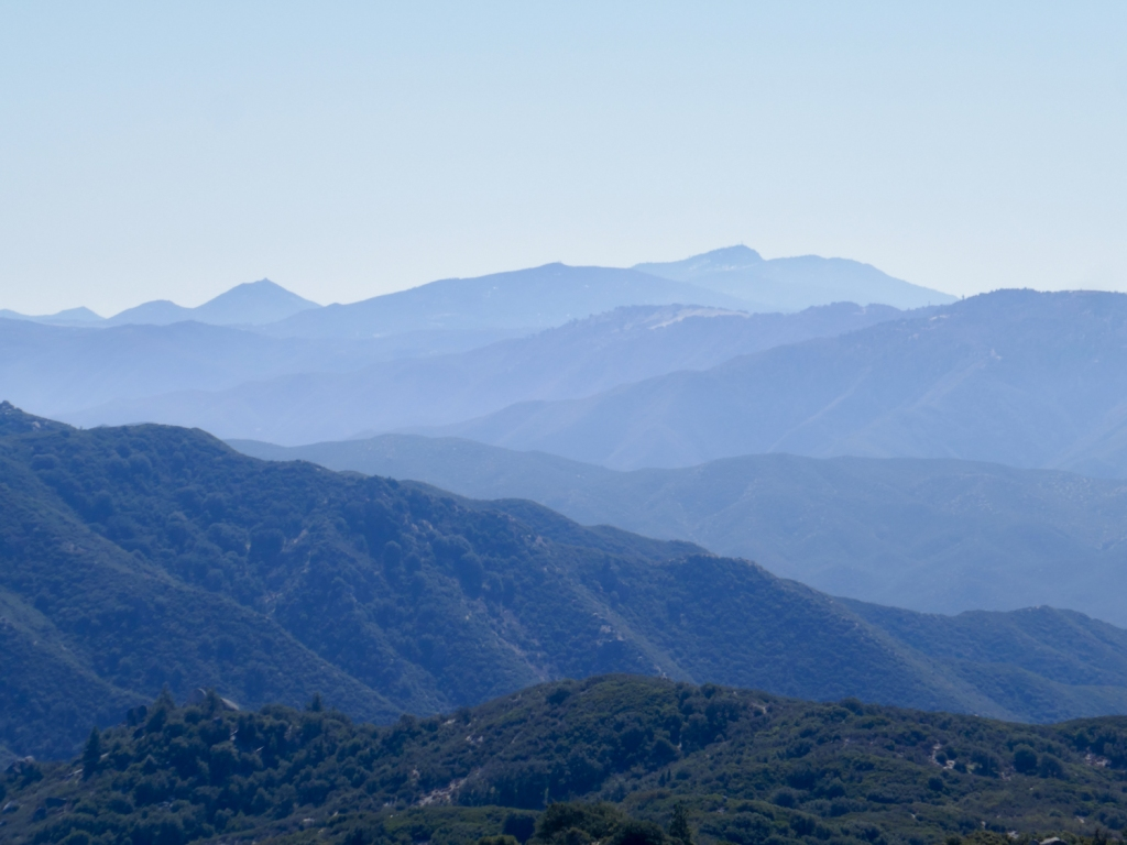 View of San Diego County from Hot Springs Mountain.