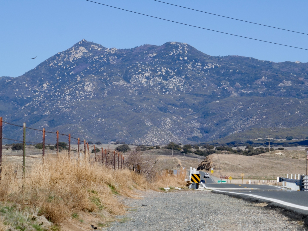 Hot Springs Mountain viewed from afar in San Diego County.