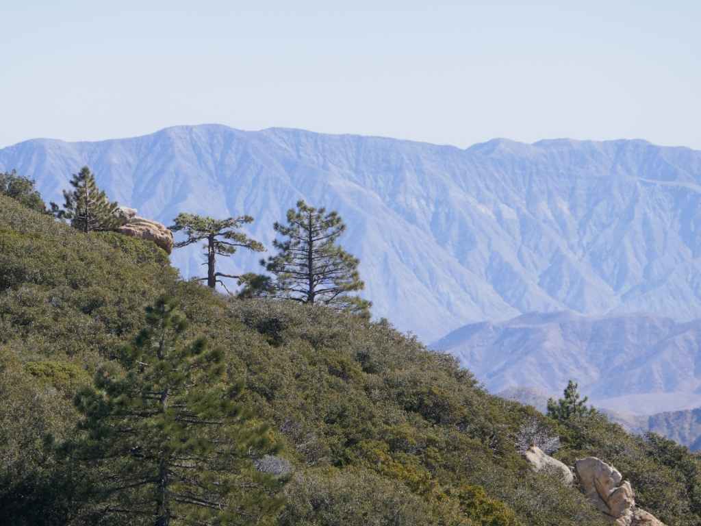 Santa Rosa Mountains as viewed from Hot Springs Mountain.