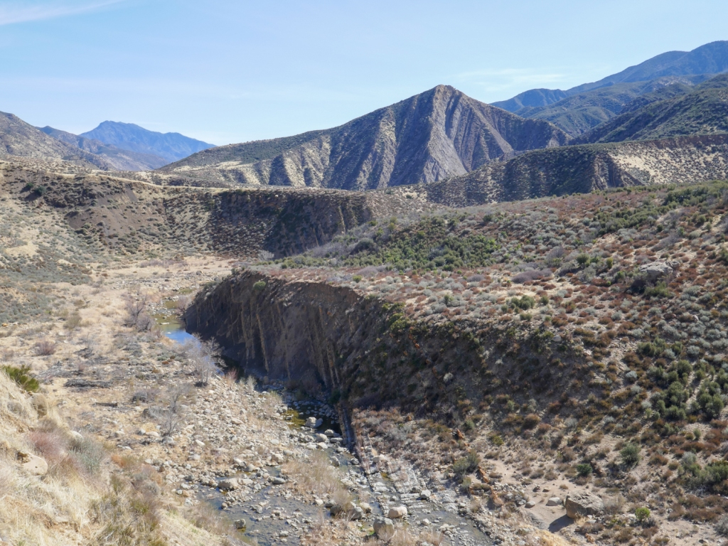 Sespe creek winds through Los Padres National Forest.