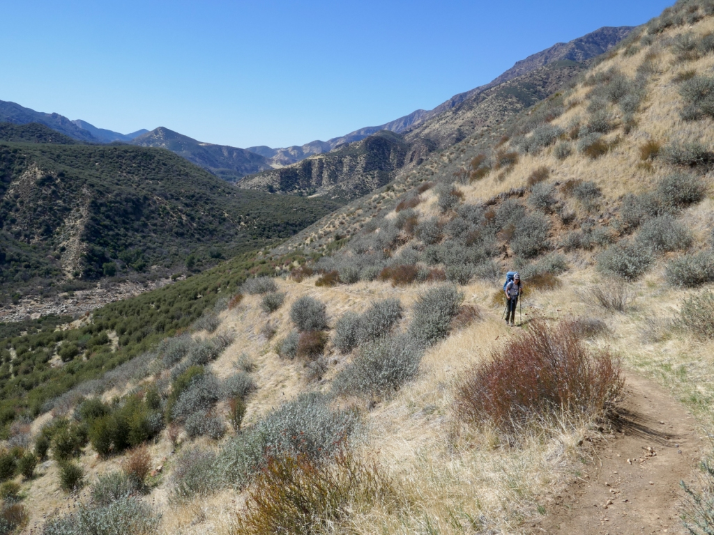 Madison Snively hiking in Los Padres National Forest.