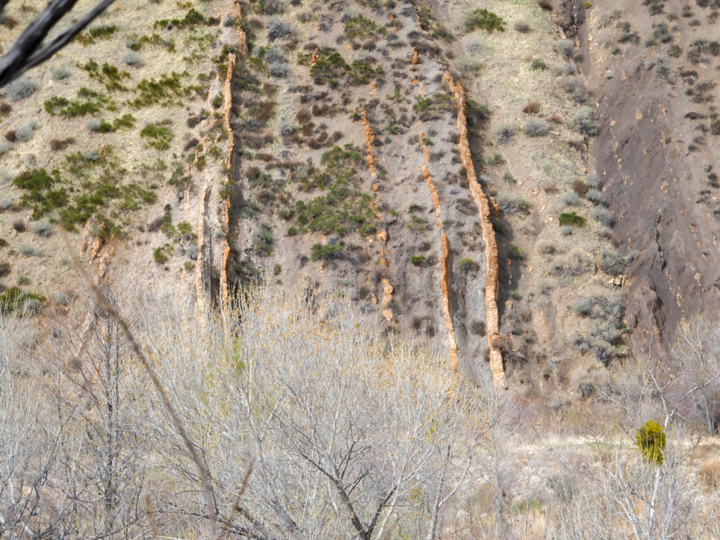 Sandstone sedimentary layers in Los Padres National Forest.